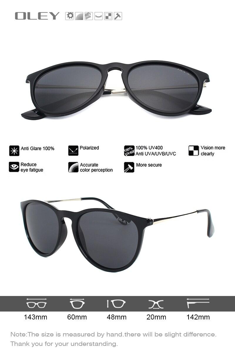 OLEY Cat Eye Sunglasses Women polarized Round Sun Glasses Brand designer Driver shades gafas de sol mujer zonnebril dames Y4171
