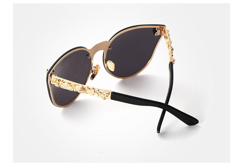 OLEY Luxury Brand Fashion Women Gothic Mirror Eyewear Skull Frame Metal Temple Oculos de sol With Accessories Y7001
