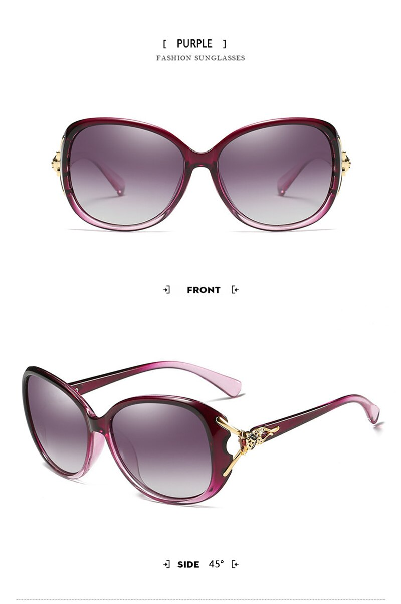 OLEY Retro Sunglasses women Polarized Luxury brand designer big frame Fox eyewear diamond Oculos de sol femininos