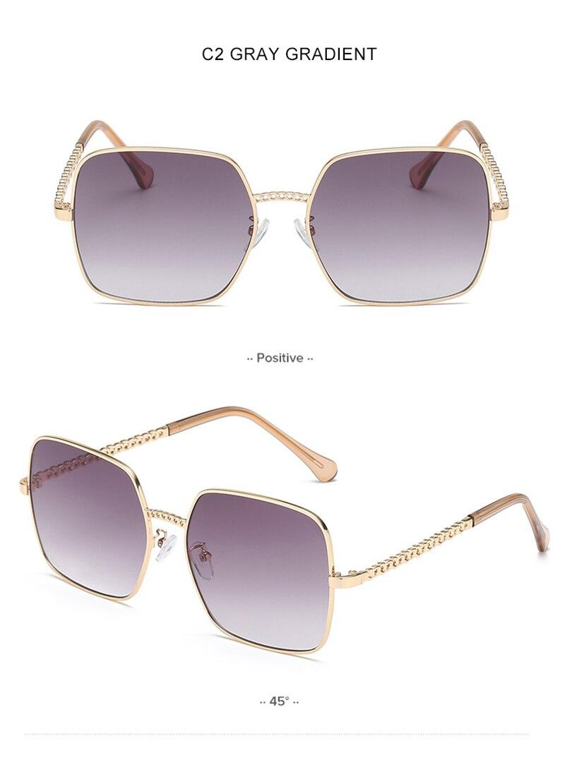 OLEY Fashion Square Women Sunglasses Vintage Alloy Frame Lady Sun glasses Classic Brand Designer Shades Oculos de sol femininos