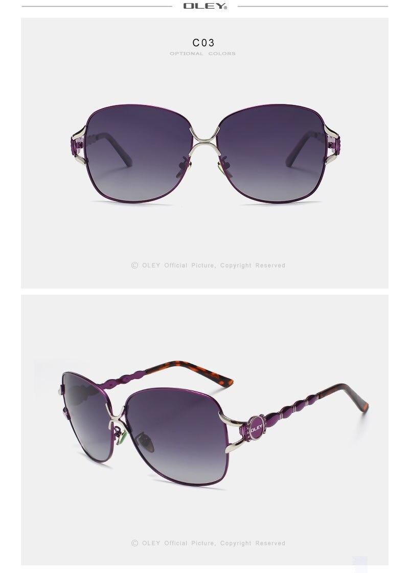 OLEY New fashion Large frame Women polarized sunglasses Ladies Sun Glasses Female Vintage Shades Oculos de sol Feminino Y7203