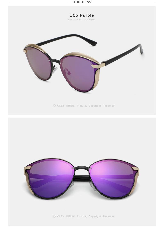 OLEY Cat Eye Sunglasses Women Polarized Fashion Ladies Sun Glasses Female Vintage Shades Oculos de sol Feminino UV400 Y7824
