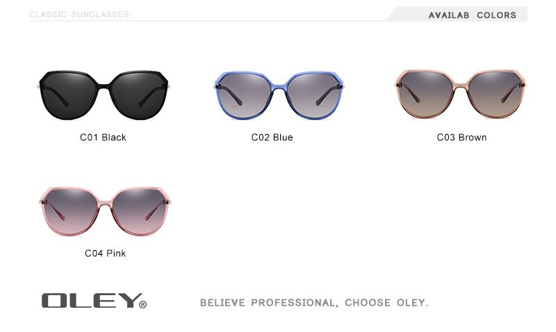 OLEY Luxury Brand Design Rhinestone Polarized Sunglasses Women Lady Elegant Big Sun Glasses Female Eyewear Oculos De Sol