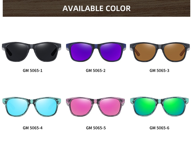EZREAL Handmade Bamboo and Wood Sunglasses Polarized Protection Men's Sunglasses Global Hot Simple With Wooden Sunglasses Box