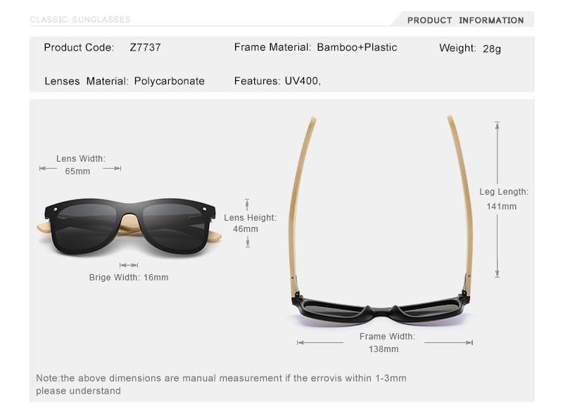 OLEY Natural Bamboo wood Sunglasses Men Polarized Fashion Glasses Original Bamboo Oculos de sol masculino Support custom logo