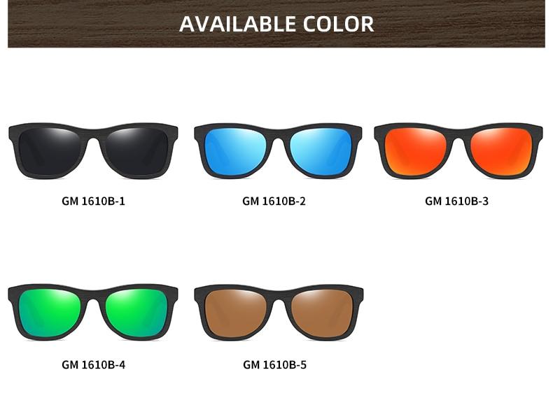 EZREAL Wood Sunglasses Men Brand Designer Polarized Driving Bamboo Sunglasses Wooden Glasses Frames Oculos De Sol Feminino