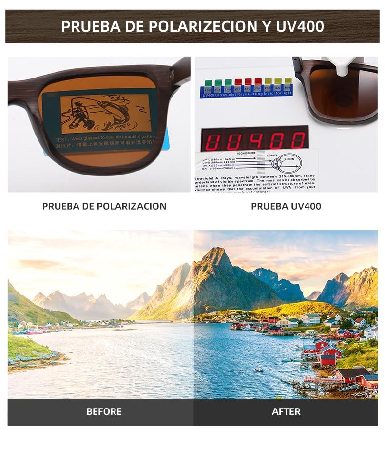 EZREAL Handmade Natural Brown Wooden Sunglasses Women Men Brand Design Vintage Fashion Glasses Polarized Lens Dropshipping