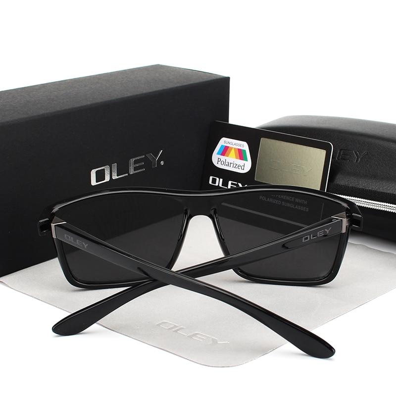 OLEY Polarized Men Sunglasses brand designer Retro Square Sun Glasses Accessories Unisex driving goggles oculos de sol Y6625