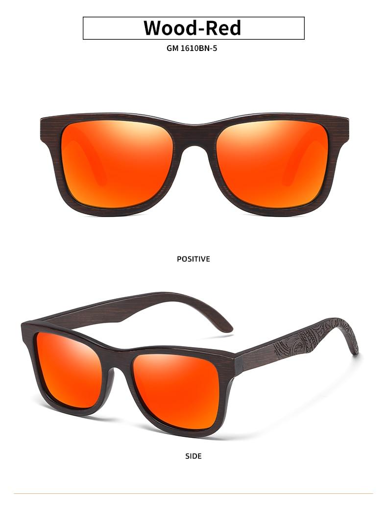 EZREAL Natural Polarized Wooden Sunglasses Men Bamboo Sun glasses Women Brand Designer Original Wood Glasses Oculos de sol