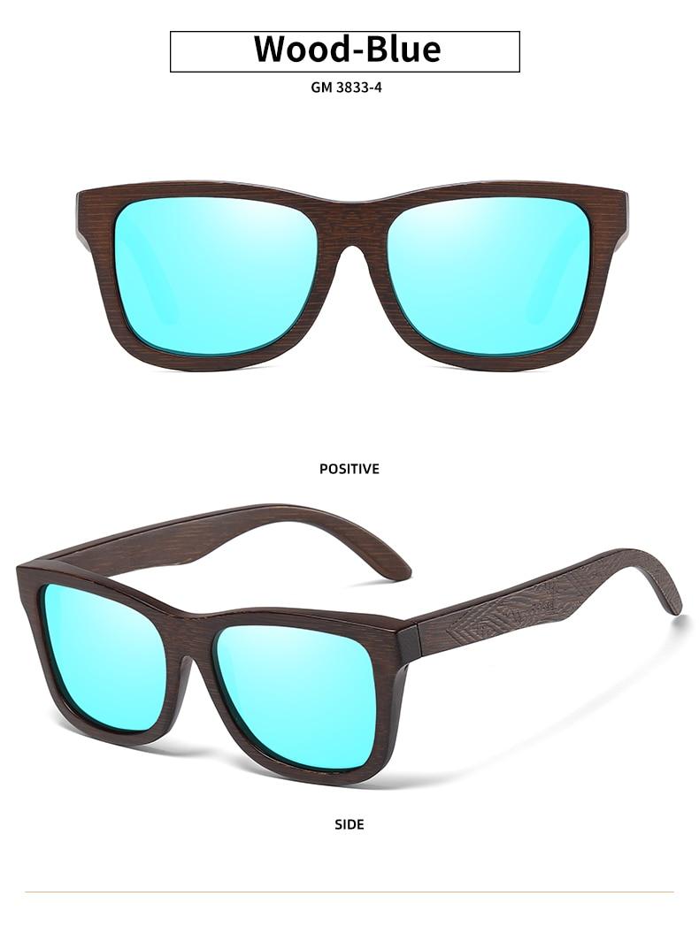 EZREAL Natural Bamboo Wooden Sunglasses Handmade Polarized Mirror Coating Lenses Eyewear With Gift Box