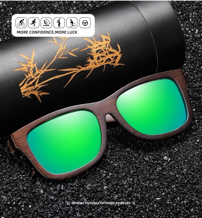 EZREAL Hamdmade Natural Polarized Wooden Sunglasses Men Bamboo Sun glasses Women Brand Designer Original Wood Glasses S3833