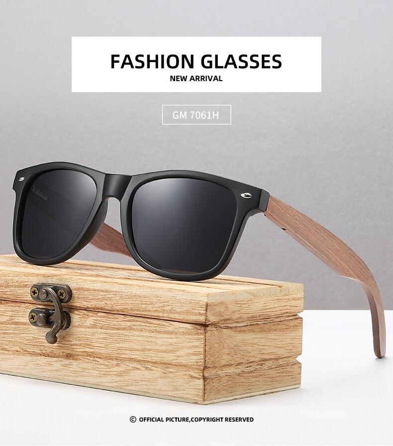 EZREAL Brand Walnut Wooden Polarized Men's Sunglasses WomenOculos de sol Masculino S7061h