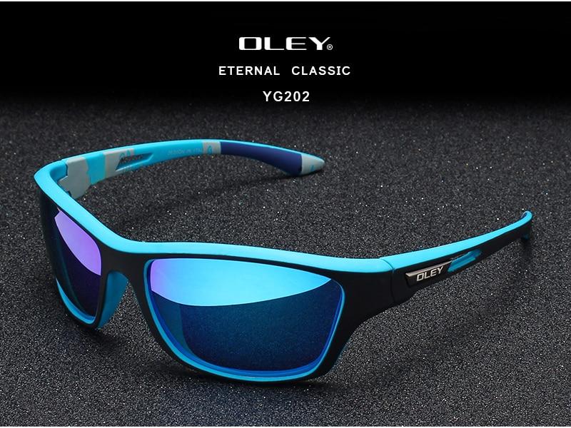 Fashion Guy's Sun Glasses From OLEY Polarized Sunglasses Men Classic Design Sunglass With Brand Box Support custom logo