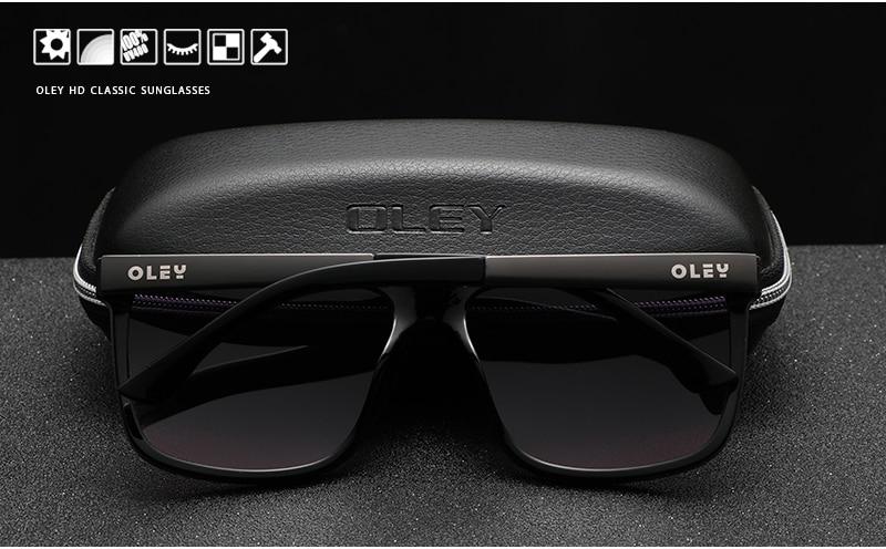 OLEY Brand New Design Sunglasses Men Polarized Eyewear Accessories Sun Glasses For Women Original box Accept custom logo Y7016