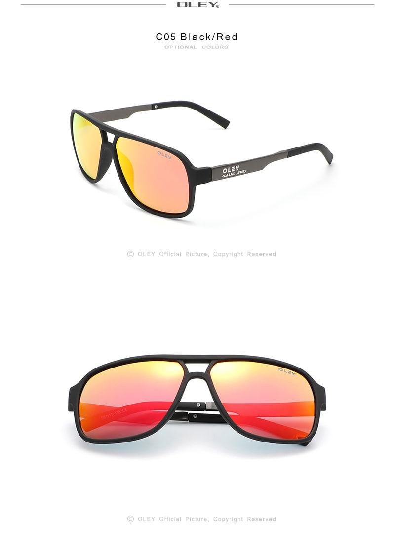 OLEY Polarized Sunglasses Men Fashion New Sports Style Square Sun Glasses Male Outdoor Travel UV Goggles Can customize logo