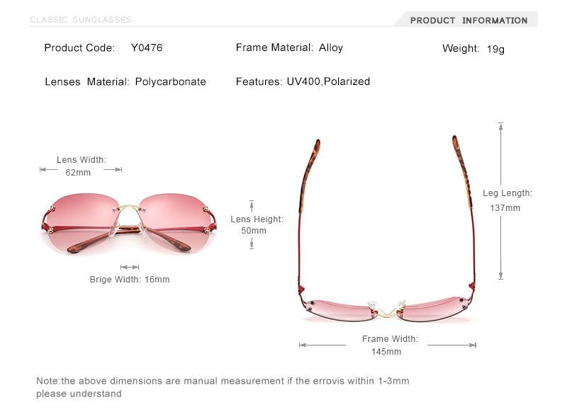 OLEY classic Italian design women butterfly polarized sunglasses Fashion HD Gradient Inlaid Large Frame Women Sun glasses Y0476