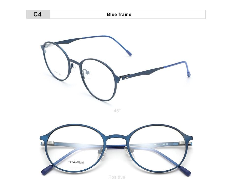 OLEY DESIGN Women Luxury Titanium Alloy Optics Glasses Frames Vintage Round Ultralight Myopia Prescription Eyeglasses Y7710