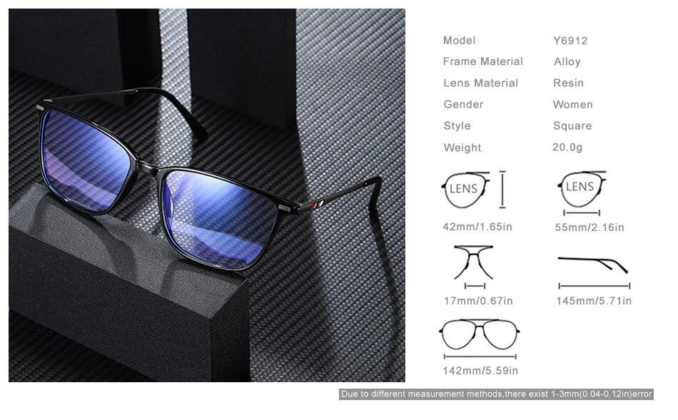 OLEY Women Glasses Frame Fashion Male Square eyeglasses anti-blue Ray Myopia Prescription Eyeglasses custom logoY6912