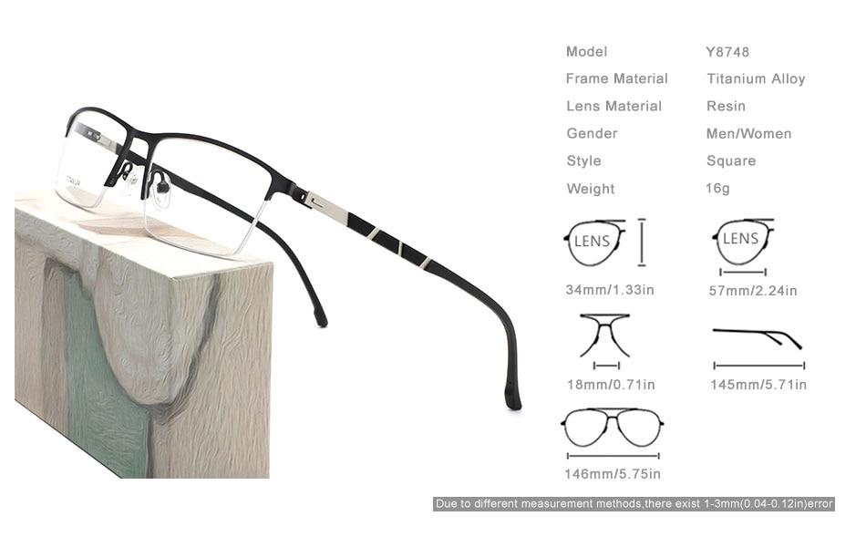 OLEY glasses frame optical series myopia hyperopia presbyopia progressive prescription glasses Square titanium alloy glasses