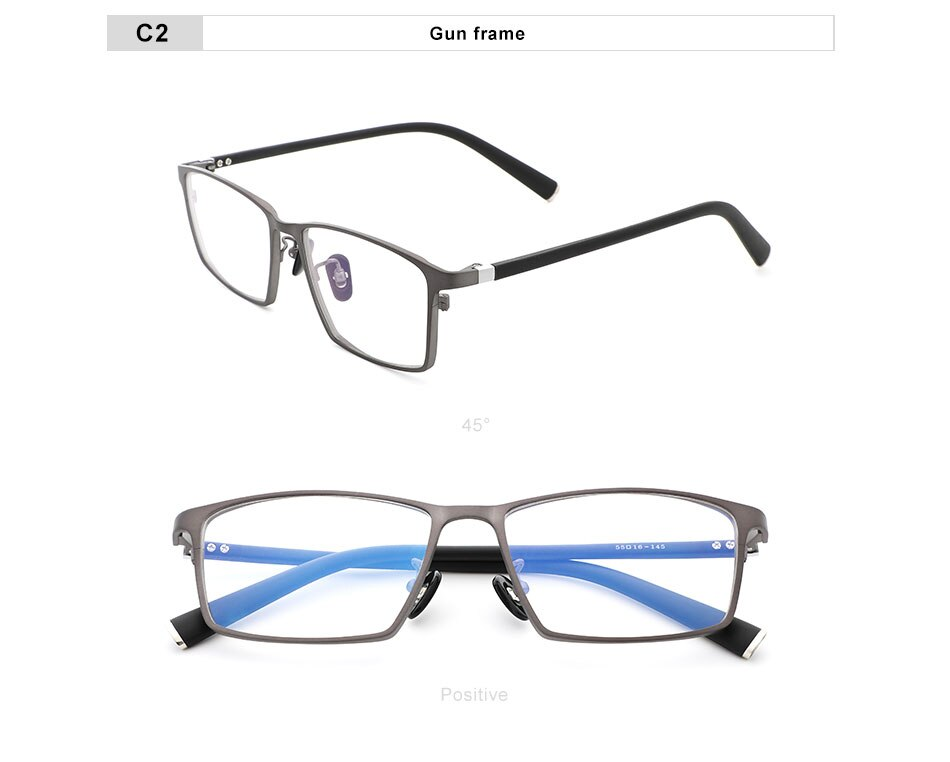 OLEY Titanium Optical Glasses Frame Men Ultralight Square Myopia Prescription Eyeglasses Male Prescription glasses YT206