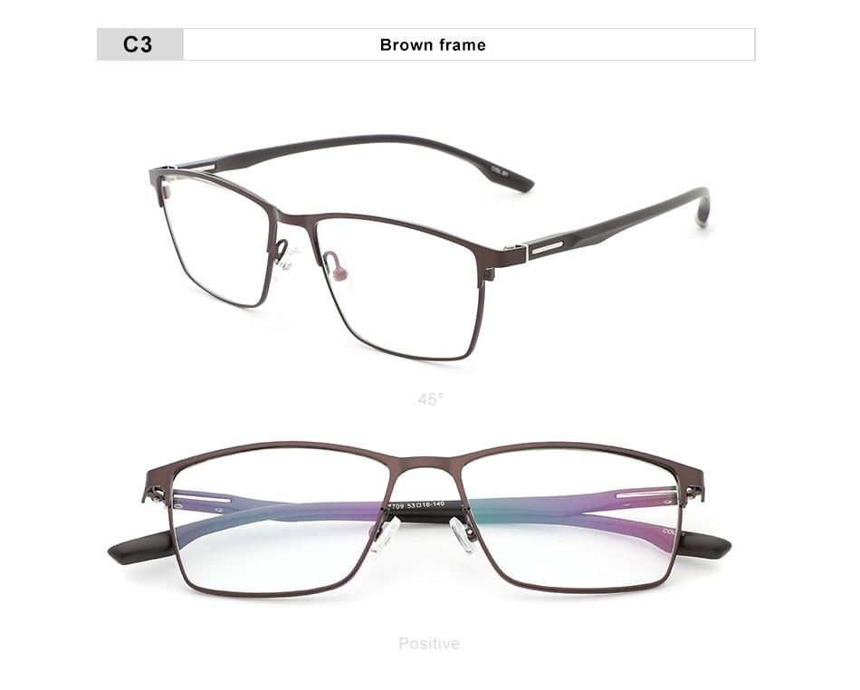 OLEY brand square classic prescription glasses fashion blue light alloy myopia hyperopia optical glasses frame Y7709