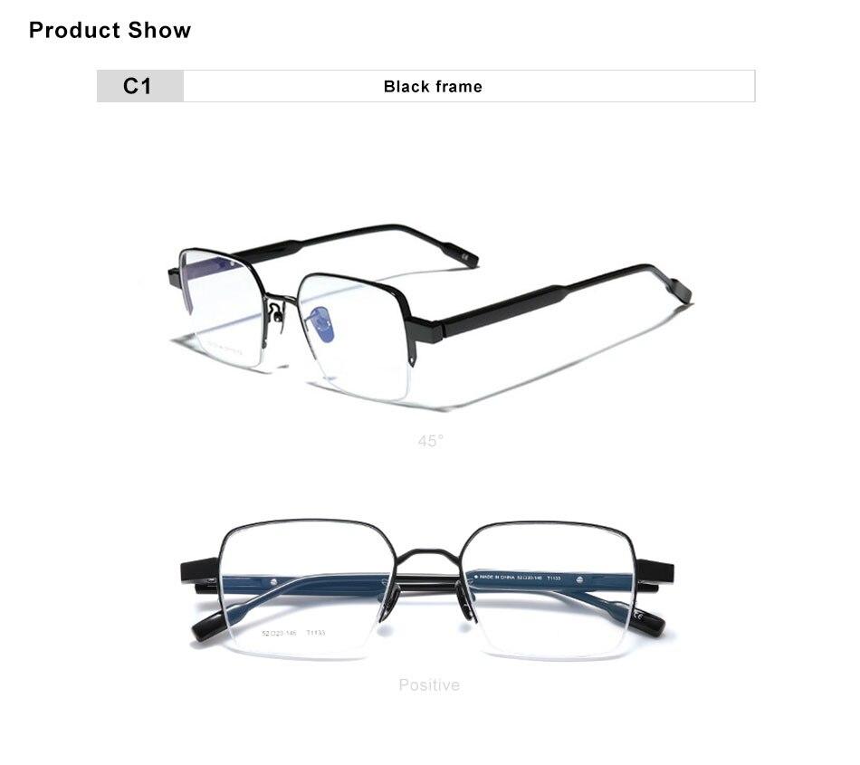 OLEY Titanium+Acetate Optical Glasses Half Frame Men 2020 Square Myopia Prescription Eyeglasses Male Metal Hyperopia Eyewear