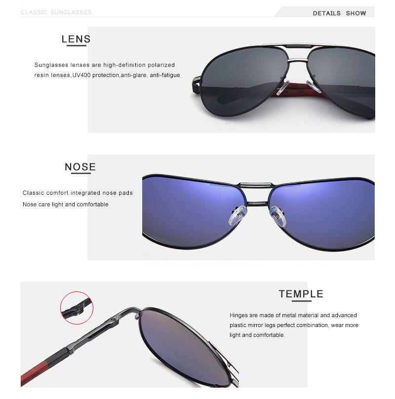 OLEY Brand Men Vintage Aluminum Polarized Sunglasses Classic Pilot Sun glasses Coating Lens Shades For Men/Wome Full set of box