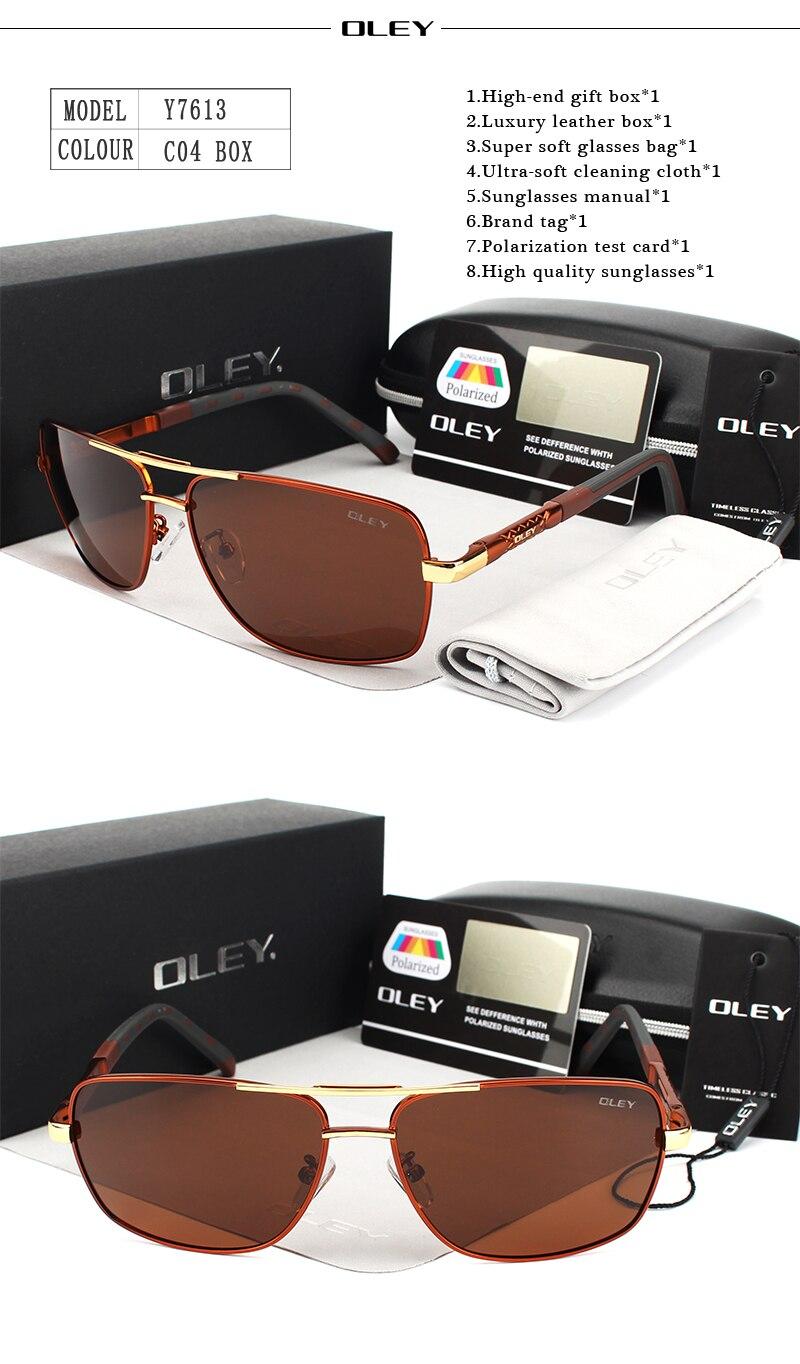 OLEY Brand Men Aluminum Sunglasses Polarized UV400 Mirror Male Sun Glasses Women For Men Oculos de sol Summer goggles Y7613