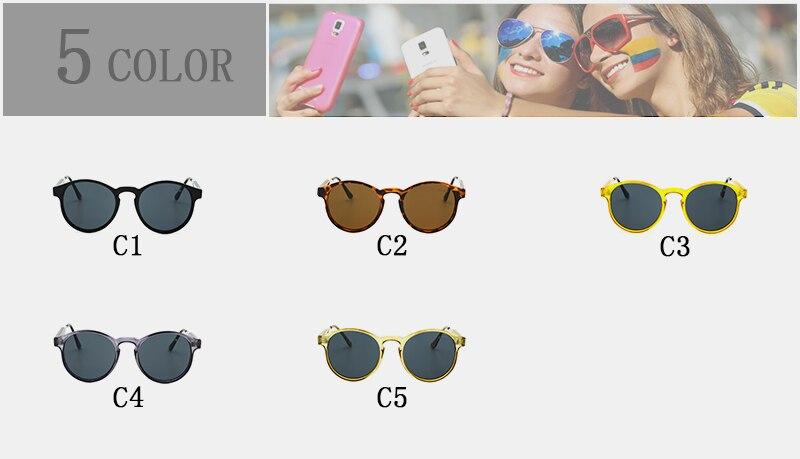 OLEY Brand Designer Round Sunglasses Women Points Men Vintage Black Circle Eyewear Anti UVA Sun Glasses goggles Oculos de sol