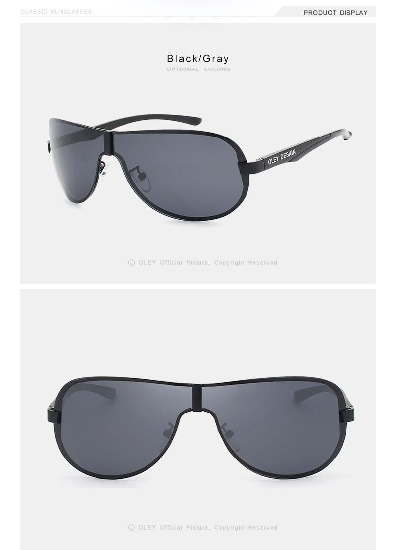 OLEY Brands Aluminum Polarized Driving Sunglasses for Men glasses Designer with High Quality Big frame rimless sun glasse