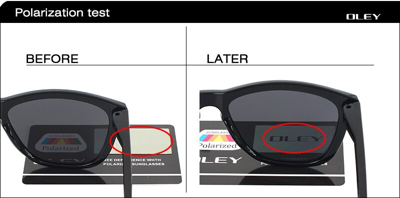 OLEY Mirrored Sunglasses men Classic square Sun Glasses women polarized Gradient frame Brand designer UV400 protect oculos Y9606