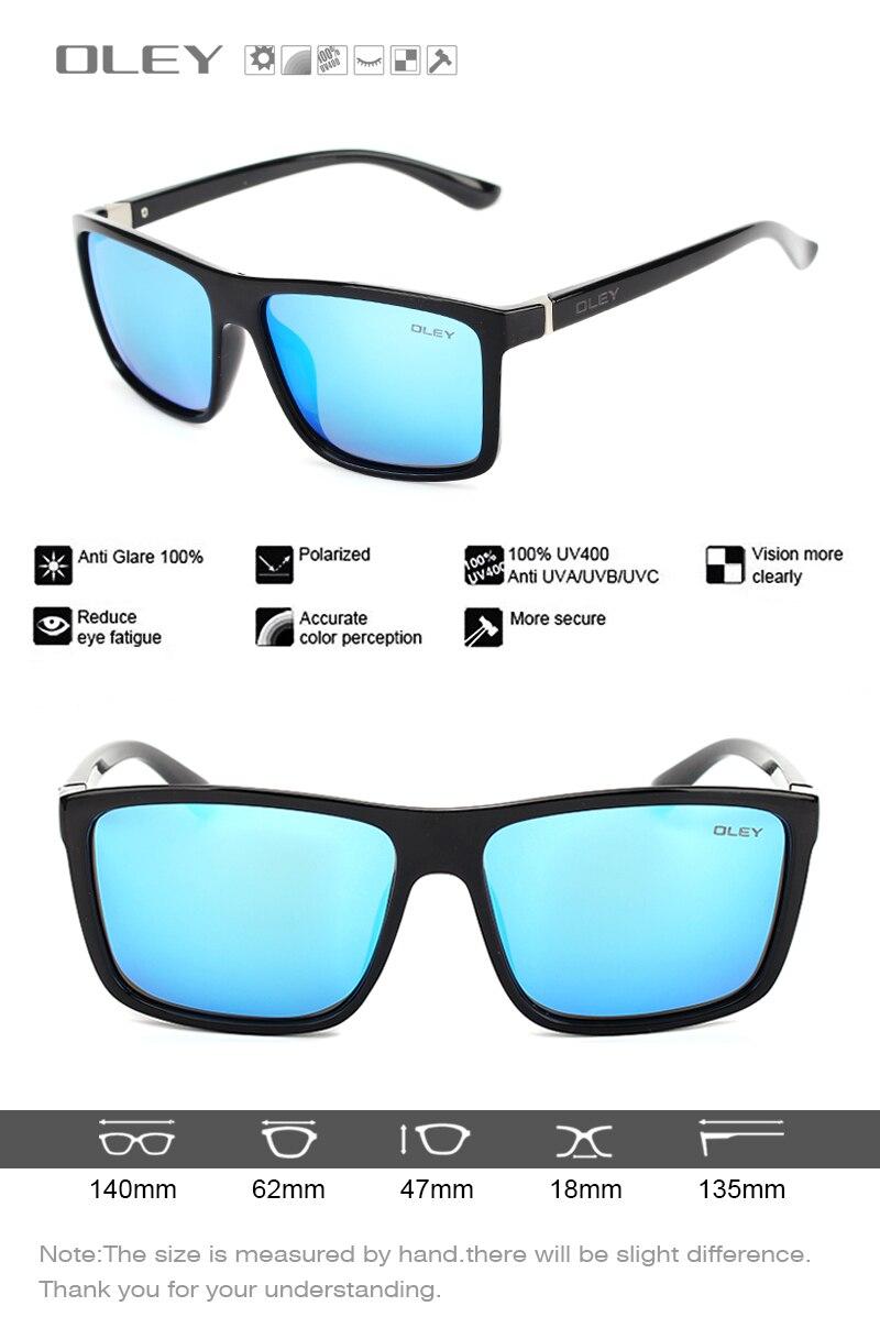 OLEY Brand Vintage Style Sunglasses Men Classic Male Square Glasses Driving Travel Eyewear Unisex Gafas Oculos UV400 Y6625