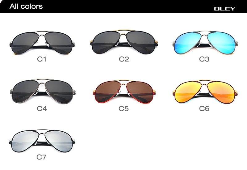 OLEY Unisex Polarized Sunglasses Men brand designer Women Driving Sun Glasses coating spectacles lunettes de soleil pour hommes