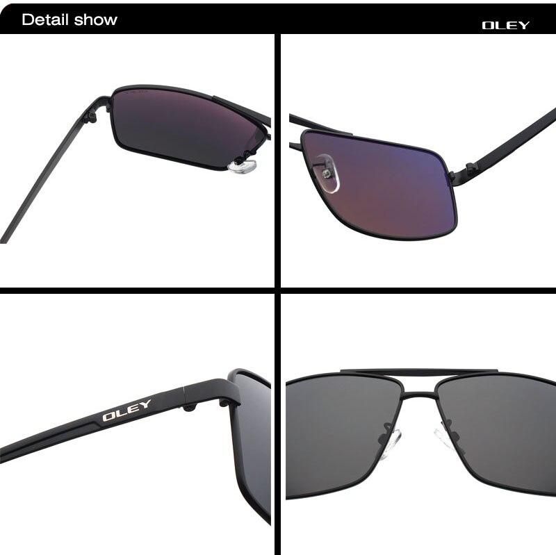 OLEY fashion Mens Sunglasses brand designer Polarized Square Sun Glasses for men Vintage Eyewear fishing drivers glasses Y1612