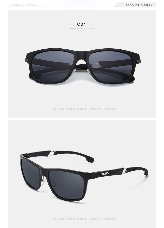 OLEY New Aluminum-Magnesium Polarized Men Sunglasses Expandable hollow leg special anti-slip design Customizable logo Y7144
