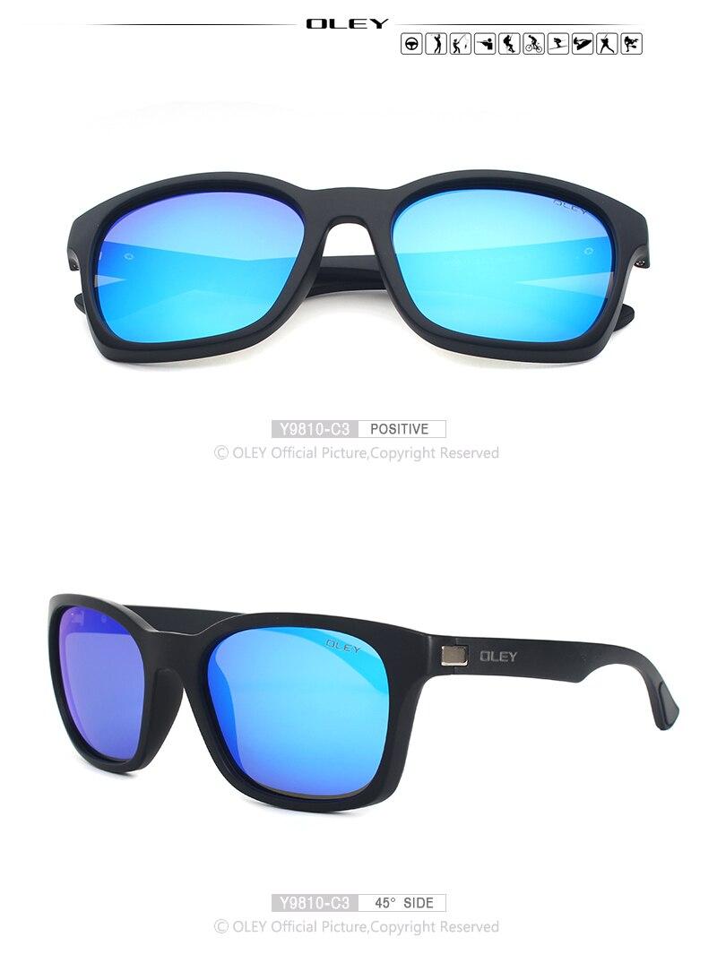 OLEY Retro polarized sunglasses men womens brand designer Sun Glasses for man gafas lunette de soleil homme zonnebril mannen