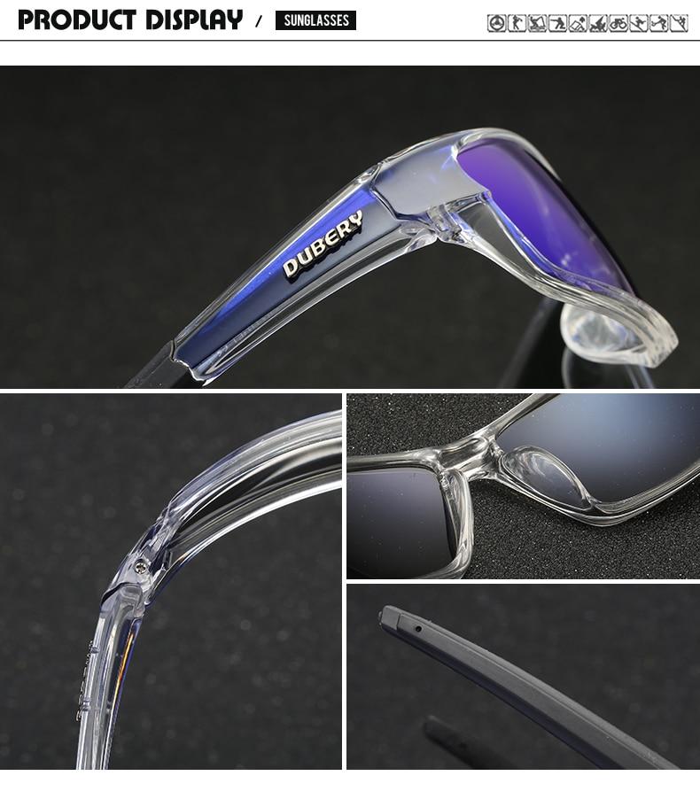 DUBERY Brand Design Men's Glasses Polarized Black Driver Sunglasses UV400 Shades Retro Fashion Sun Glass For Men Model 620