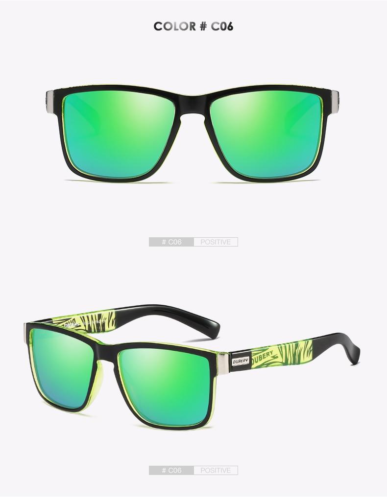 DUBERY Brand Design Polarized Sunglasses Men Driver Shades Male Vintage Sun Glasses For Men Spuare Mirror Summer UV400 Oculos