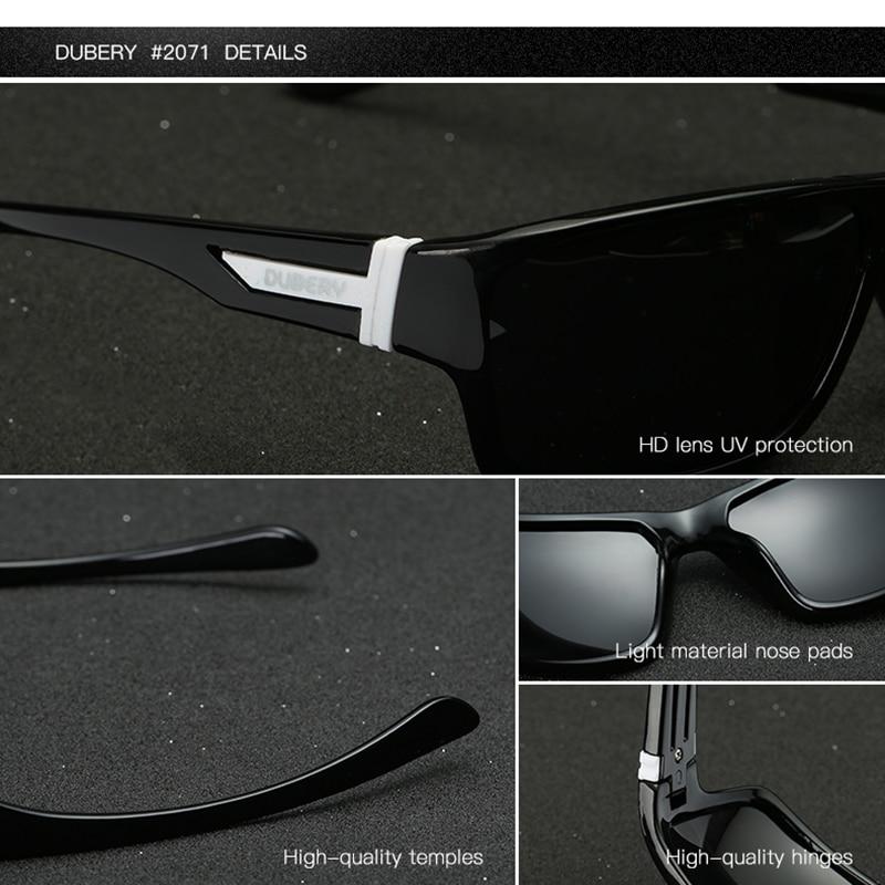 DUBERY Polarized Sunglasses Men's Driving Shades Male Sun Glasses For Men Safety 2017 Luxury Brand Designer Oculos