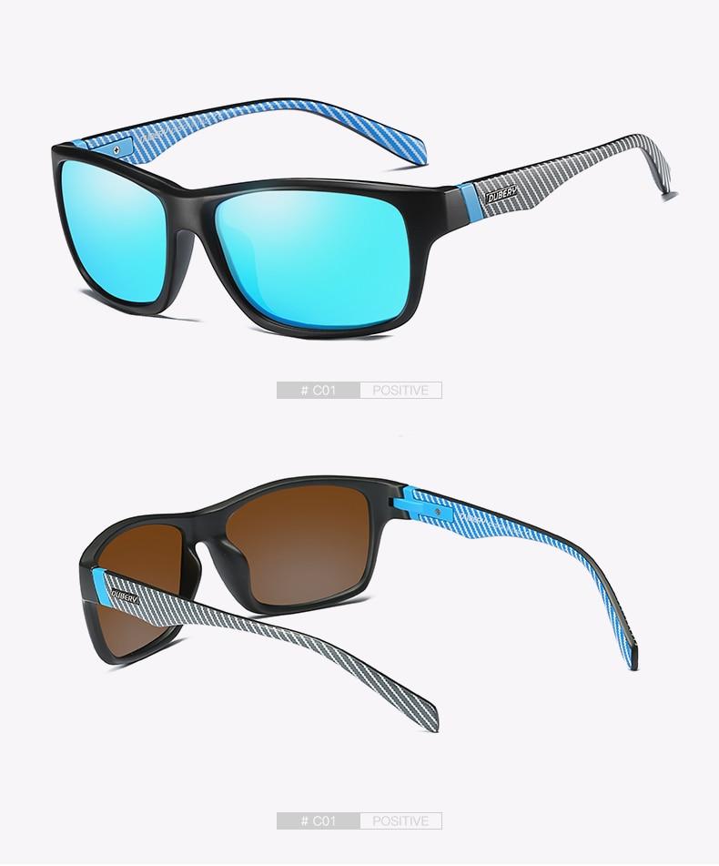 DUBERY Vintage Sunglasses Polarized Men's Sun Glasses For Men UV400 Shades Spuare Black Summer Oculos Male 8 Colors Model 732