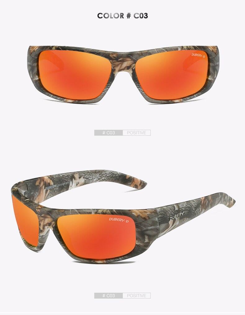 DUBERY Brand Design Men's Glasses Polarized Night Vision Sunglasses Men's Retro Male Sun Glass For Men UV400 Shades