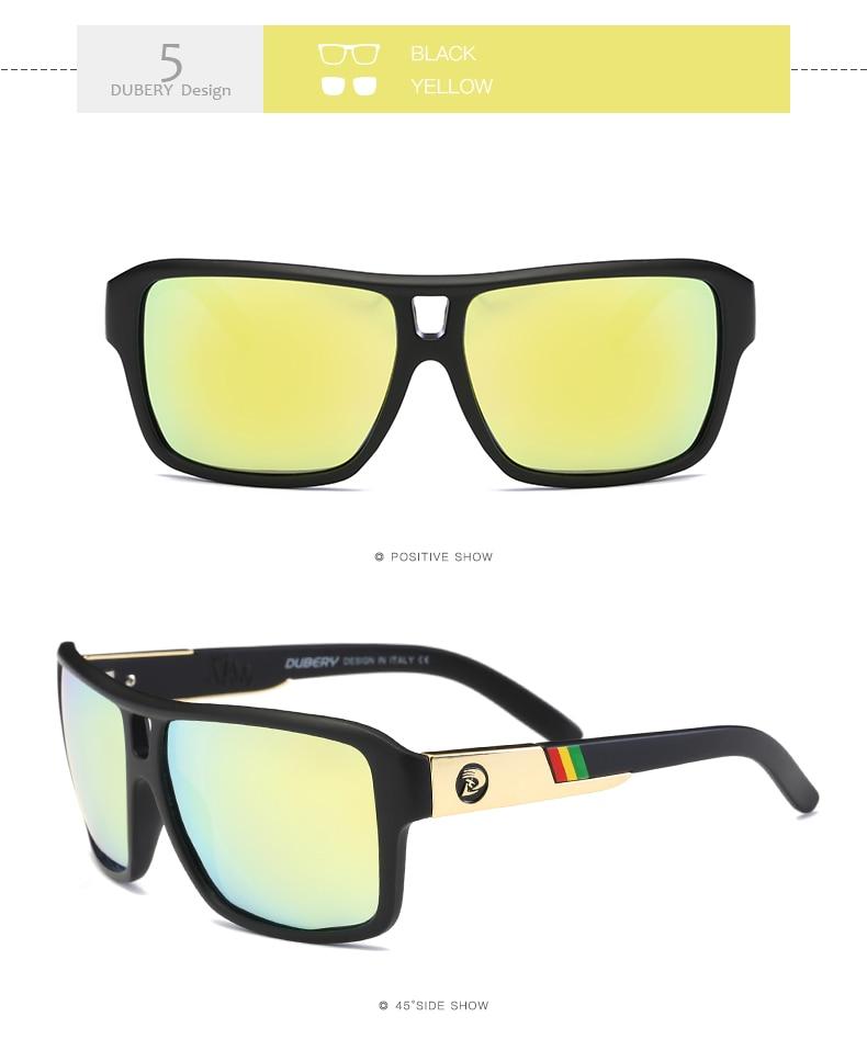 DUBERY Brand Design Polarized Sunglasses Men's Glasses Driver Shades Male Sun Glasses For Men Original Oculos