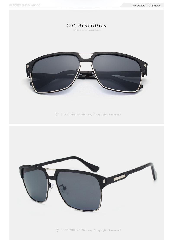 OLEY Brand Unisex Classic Men Sunglasses Polarized Male Sun Glasses Women For Men Oculos de sol Accept Logo Customization