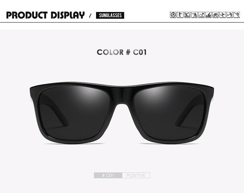 DUBERY Brand Design Polarized Black Sunglasses Men Driving Shades Male Retro Sun Glasses For Men Summer Mirror Square Oculos