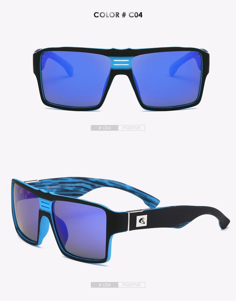 DUBERY Brand Design Polarized Sunglasses Men's Male Goggle Colorful Sun Glasses For Men Fashion Luxury Mirror Shades Oculos