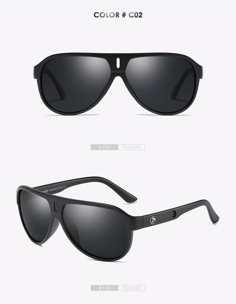 DUBERY Brand Design Polarized Sunglasses Men Driving Shades Male Retro Sun Glasses For Men Summer Mirror Goggle UV400 Oculos