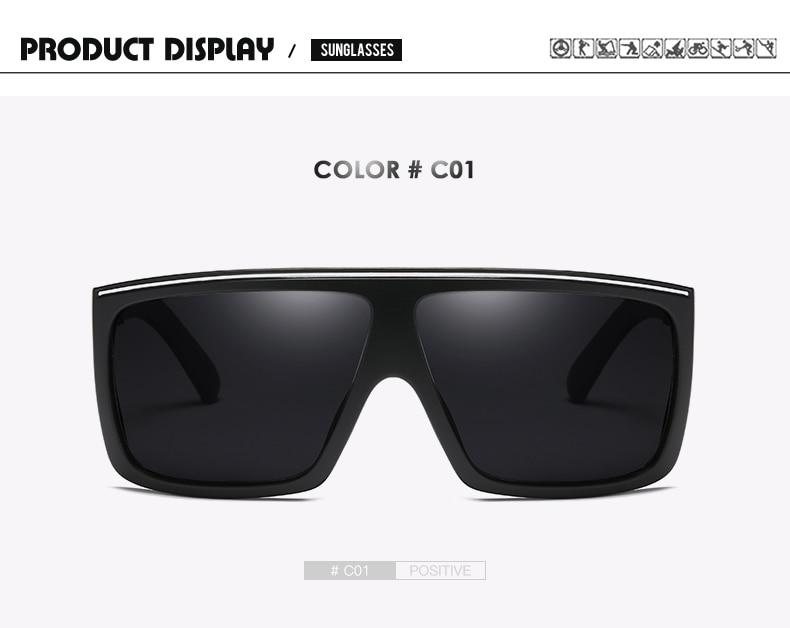 DUBERY Brand Design Polarized Sunglasses Men Driving Shades Male Retro Sun Glasses For Men Summer Mirror Square Oculos UV400