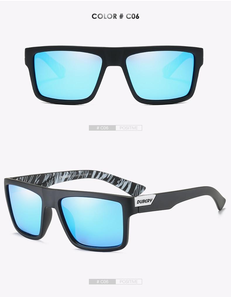 DUBERY Brand Design Polarized Sunglasses Men Driver Shades Male Vintage Sun Glasses For Men Spuare Colorful Summer UV400 Oculos
