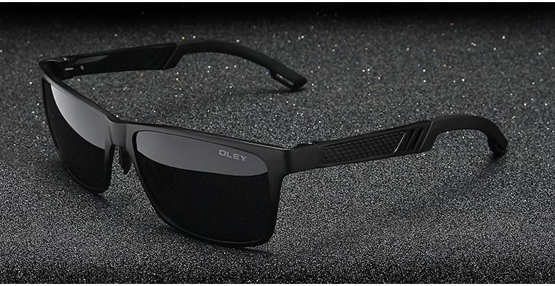 OLEY Men Polarized Sunglasses Aluminum Magnesium Sun Glasses Driving Glasses Rectangle For Men/Wome Oculos masculino Male