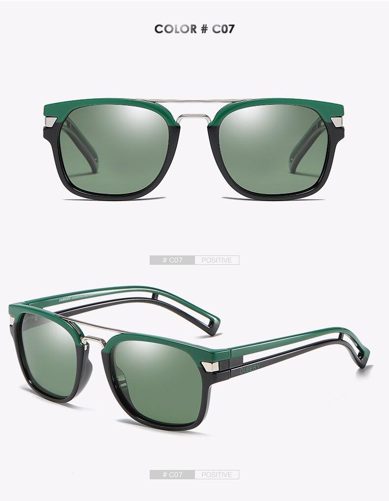 DUBERY Vintage Sunglasses Polarized Men's Sun Glasses For Men Square Shades Driving Black Retro Oculos Male 9 Colors Model 1948